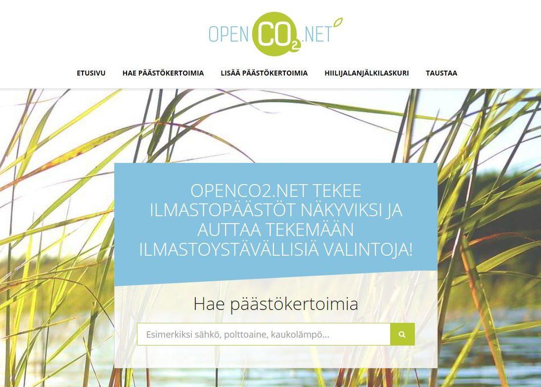OpenCO2.net Avattu – Vertaile Päästöjä Ja Tee Hiilijalanjälkilaskelmia Helposti!